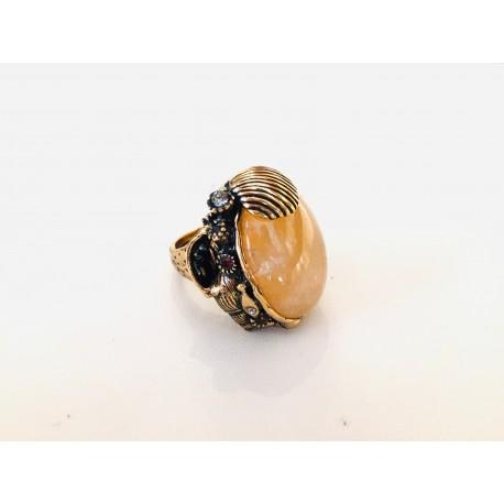 Alcozer anello pietra naturale