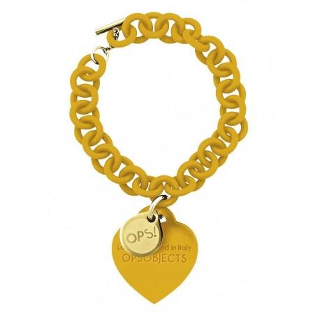 Ops!Objects Bracciale Love Giallo Senape