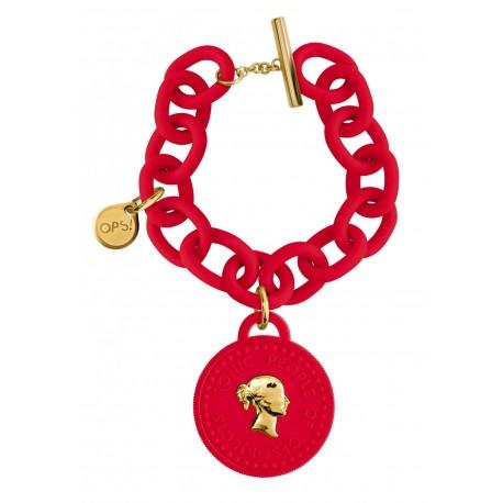ops!Objects Bracciale Tresor 1 Moneta Rosso