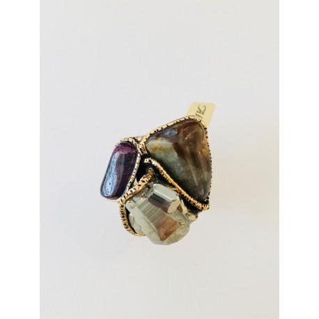 Alcozer anello pietre naturali